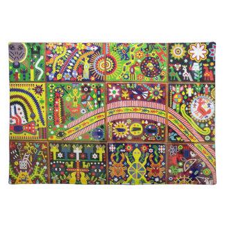 Voyage tribal maya mexicain de Boho d'art d'Oaxaca Set De Table