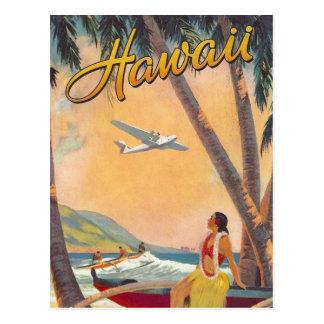 Voyage vintage d'Hawaï Carte Postale