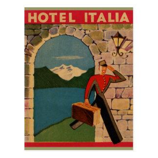 Voyage vintage - hôtel Italie Cartes Postales