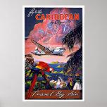 Voyage vintage la Caraïbe par avion