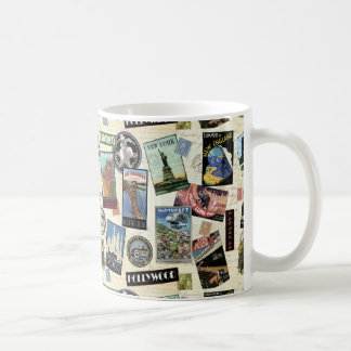 Voyage vintage moderne Etats-Unis Tasse À Café