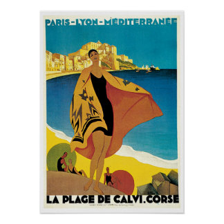 Voyage vintage, plage De Calvi France de La