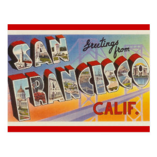 Voyage vintage San Francisco Carte Postale