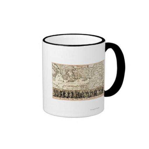 Voyages de la carte de PaulPanoramic d'apôtre Mugs
