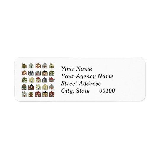 Vrai agent immobilier étiquette d'adresse retour