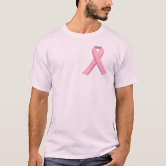 Vrai cancer du sein de soutien d'hommes t-shirt
