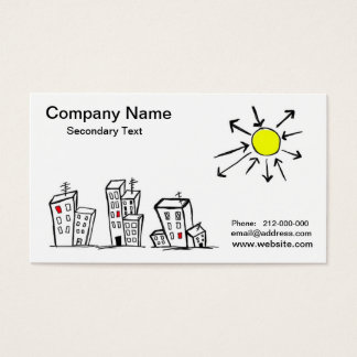 Vrai carte de visite d'agent immobilier