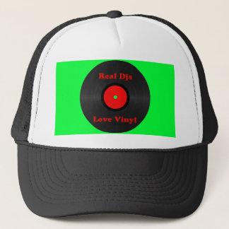 Vrai casquette de vinyle d'amour de Djs