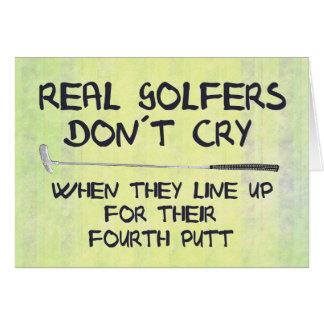 Vrai cri de don´t de golfeurs carte de vœux