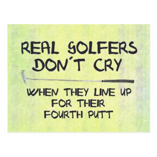 Vrai cri de don´t de golfeurs cartes postales