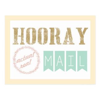 Vraie carte postale réelle de courrier