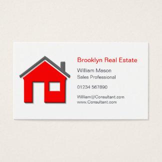 Vraie carte simple d'agent immobilier d'icône à la