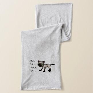 Vraie écharpe des chats 2 d'amour d'hommes