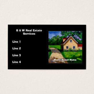 Vrais CARTES DE VISITE d'agent immobilier :