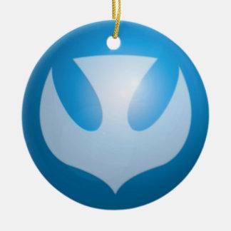 Vrede voor Kerstmis Rond Keramisch Ornament