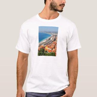 Vue aérienne de la Côte d'Azur à Nice, France T-shirt