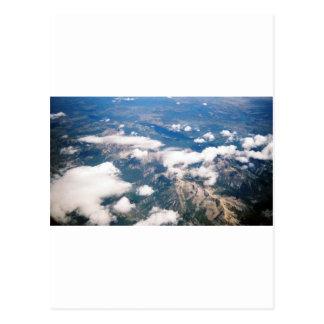 Vue aérienne des montagnes rocheuses carte postale