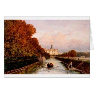Vue au château de Michael à Pétersbourg de Lebiaz Carte