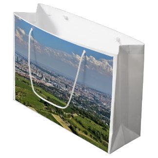 Vue au-dessus de Vienne de Kahlenberg Grand Sac Cadeau