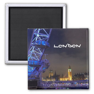 Vue BRITANNIQUE d'oeil de Londres de paysage de Aimant