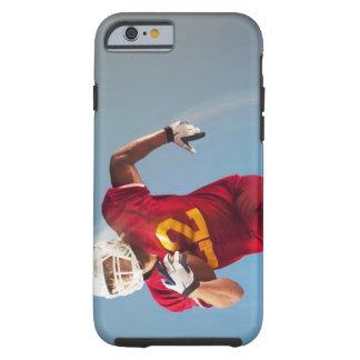 Vue brouillée de joueur de football fonctionnant coque iPhone 6 tough