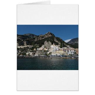 Vue d'Amalfi, mer Carte