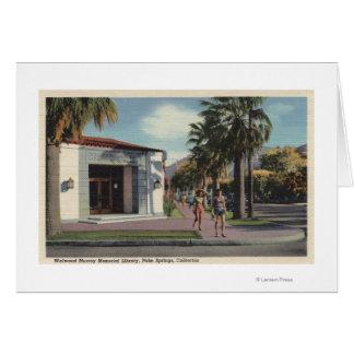 Vue de bibliothèque de mémorial de Welwood Murray Carte De Vœux