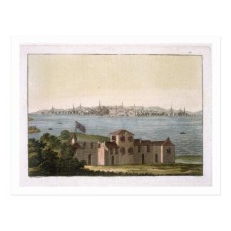 Vue de Boston, de 'Le Costume Ancien et Moderne Carte Postale