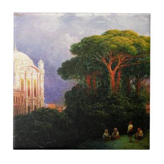 Vue de Constantinople par Ivan Aivazovsky Carreau