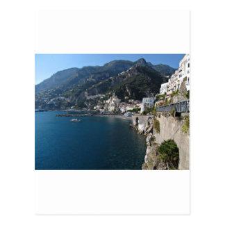 Vue de côte d'Amalfi Carte Postale