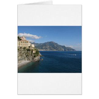 Vue de côte d'Amalfi vers Majori Carte