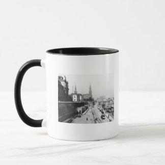 Vue de Dresde du Bruehlsche Terrasse Mug
