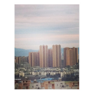 Vue de fenêtre carte postale