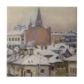 Vue de Kremlin par Vasily Surikov Carreau