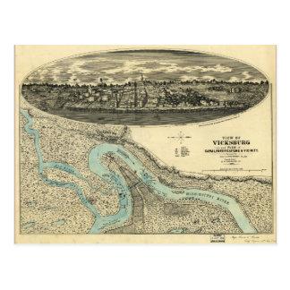 Vue de la carte de Vicksburg Mississippi (1863)