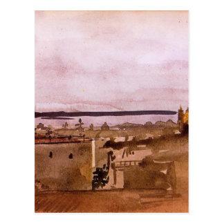 Vue de Naples par Edgar Degas Carte Postale