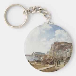 Vue de Naples par Rudolf von Alt Porte-clés