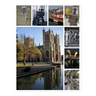 Vue de portrait de multi-image de Bristol Carte Postale