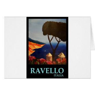 Vue de Ravello Salerno Italie de côte d'Amalfi Carte