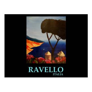 Vue de Ravello Salerno Italie de côte d'Amalfi Carte Postale