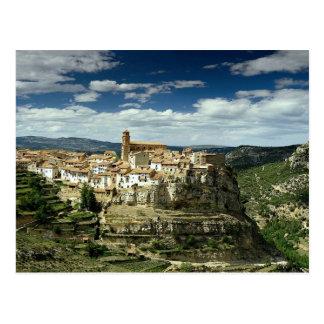 Vue de village, Villarluengo, Aragon, Espagne en Carte Postale
