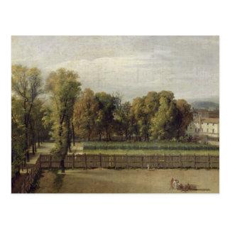 Vue des jardins du luxembourgeois à Paris, 1794 Carte Postale