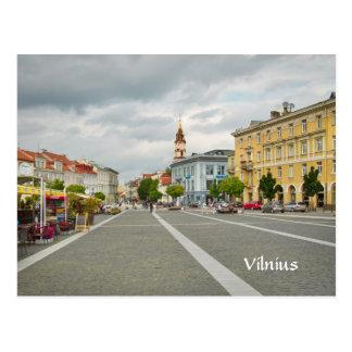 Vue d'hôtel de ville, Vilnius Lithuanie Cartes Postales