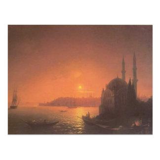 Vue d'Ivan Aivazovsky- de Constantinople Carte Postale