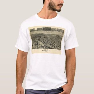 Vue d'oeil d'oiseaux de Garfield, New-jersey T-shirt