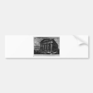 Vue du temple de Neptune par Giovanni Battista Autocollant De Voiture
