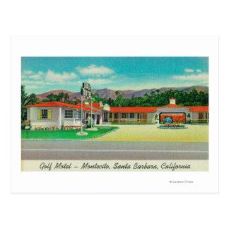 Vue extérieure du motel de golf, Montecito Cartes Postales