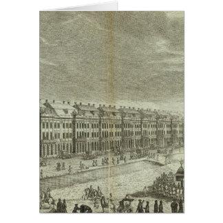 Vue gravée du St Petersbourg 2 Carte