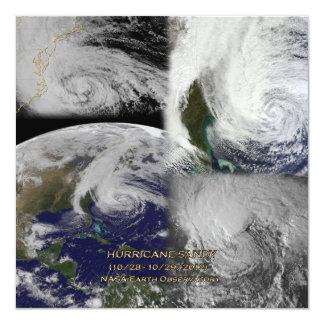 Vue satellite de collage d'ouragan Sandy Carton D'invitation 13,33 Cm