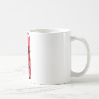 Vue supérieure de voiture - illustration mug blanc